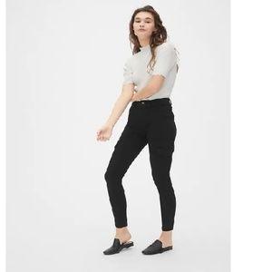NWT Gap High Rise Skinny Cargo Pants 8T Black c235